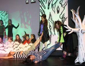 Teatro onde se trabalha a expressão dramática no colégio da penina
